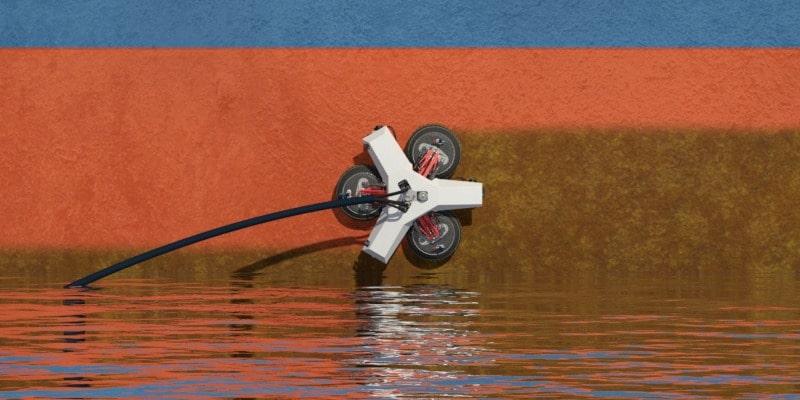 Softwaregestuurde robot maakt romp schip schoon