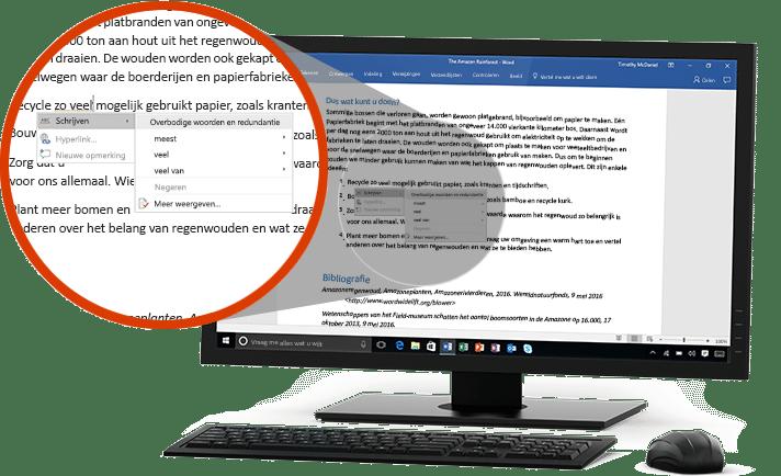 Makkelijk samenwerken in Word Office 365