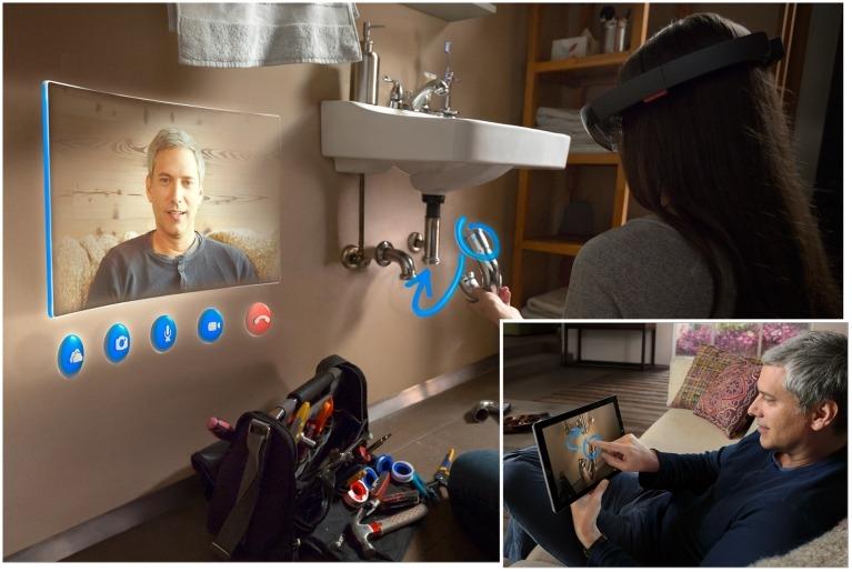 Hololens Skype videobellen en aanwijzigingen geven