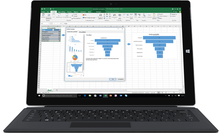 Office 365 Excel - Mooie grafieken en diagrammen
