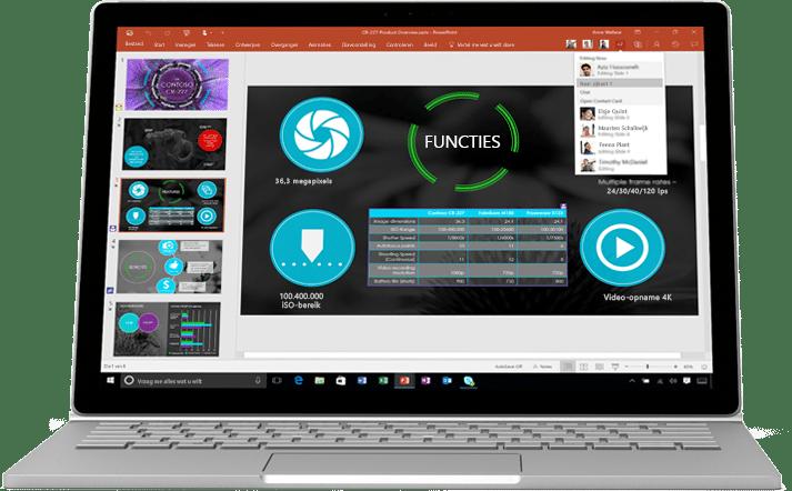 Office 365 PowerPoint - Samenwerken en bestanden delen