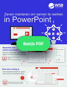Zeven manieren om samen te werken in PowerPoint - Infographic
