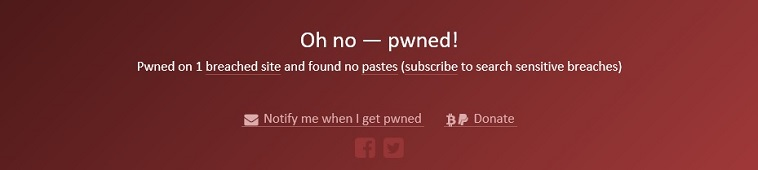 Have I Been Pwned - meleding Oh no pwned