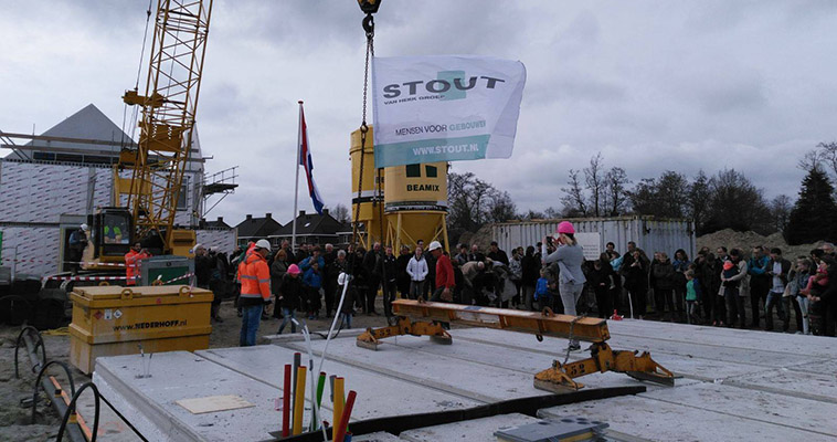 Referentie Bouwonderneming Stout - bouwplaats