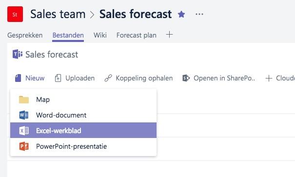 Microsoft Teams - Bestanden maken en uploaden