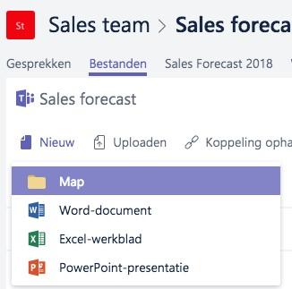 Microsoft Teams - Mappenstructuur bestanden