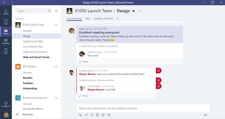 Microsoft Teams - Threads