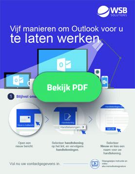 Vijf manieren om Outlook voor u te laten werken - infographic