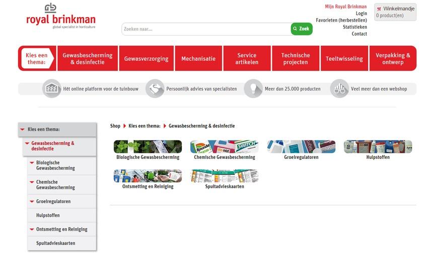 Webshop - logische en duidelijke navigatiestructuur