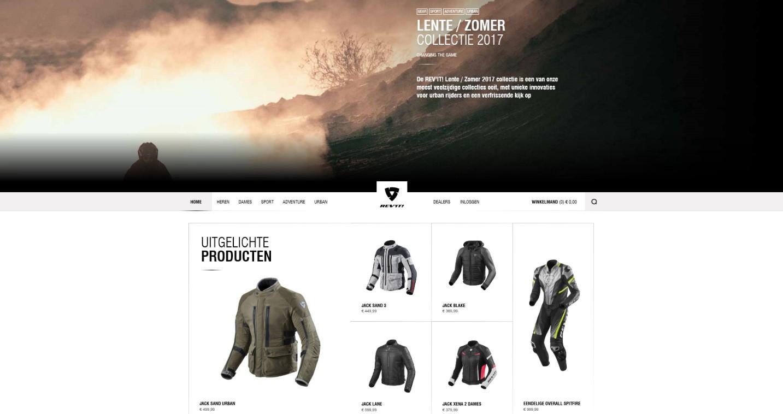 Webshop - ontwerp benadrukt merkwaarden