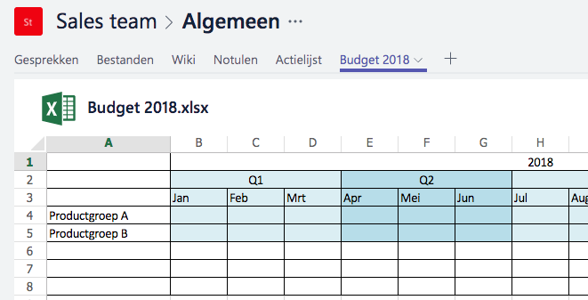 Microsoft Teams - Excel Word PowerPoint