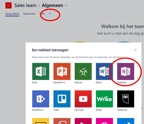 Microsoft Teams - Externe applicatie koppelen in tabblad