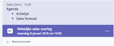 Microsoft Teams - Online meeting gesprekshistorie