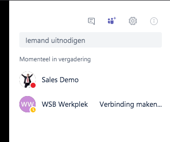 Microsoft Teams - Online meetings teamleden