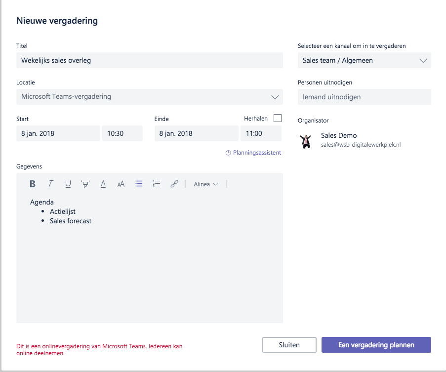 Microsoft Teams - Online meetings
