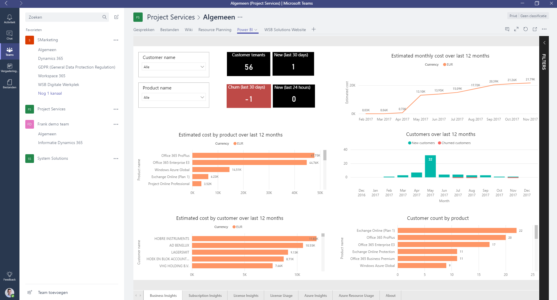Microsoft Teams - PowerBI