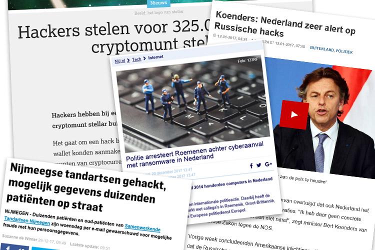 Nieuwsberichten cybercriminaliteit