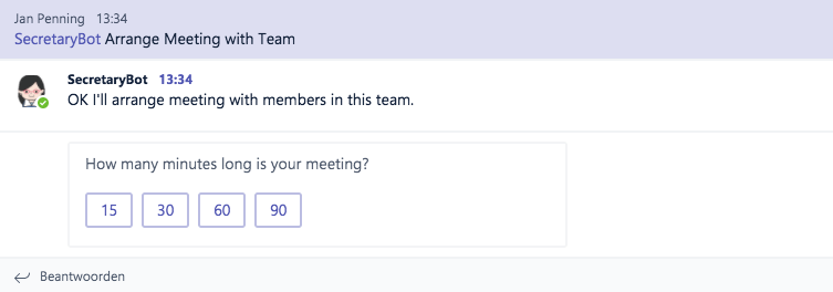 Bots in Teams - secretary bot meeting
