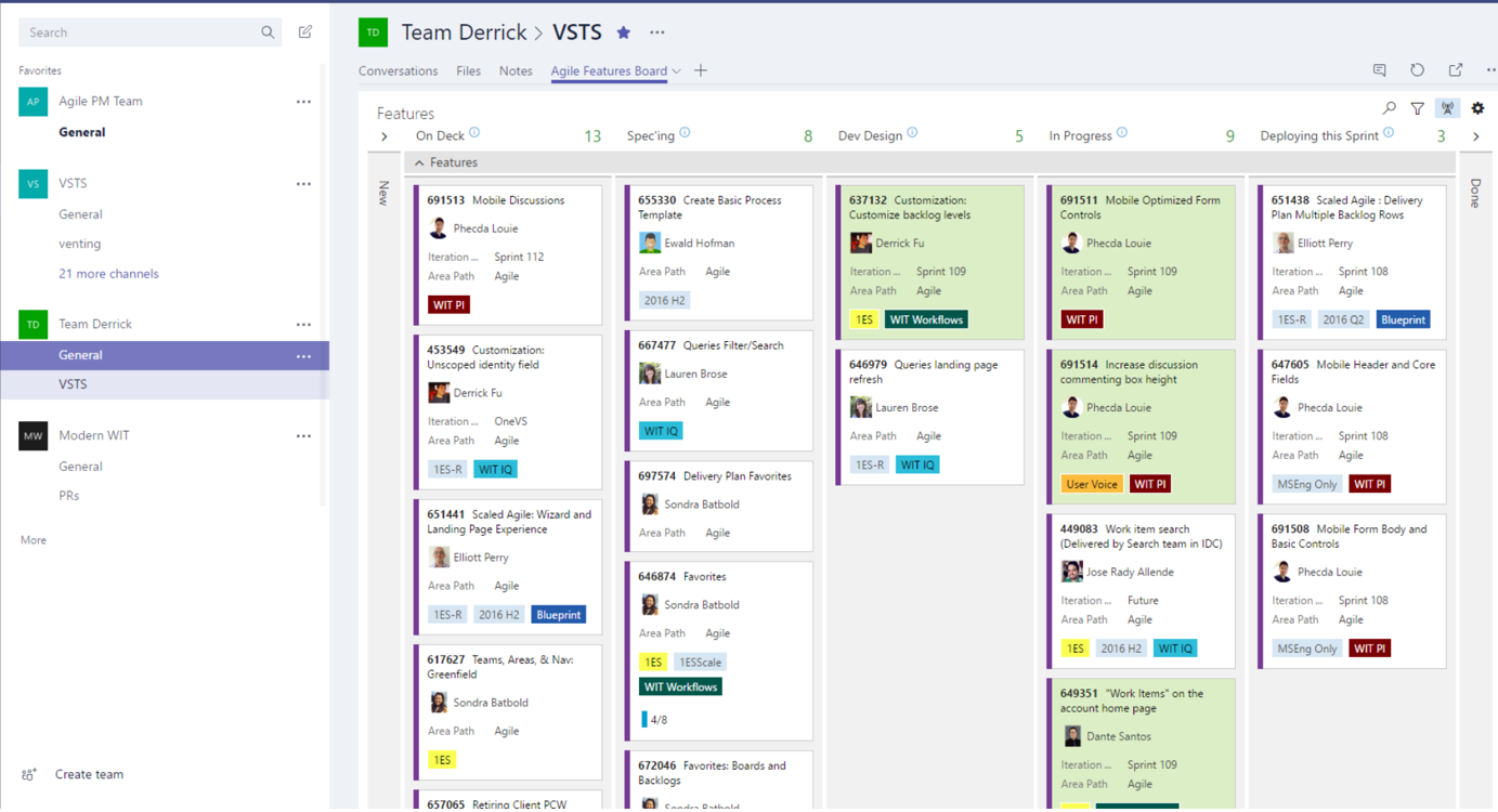 Visual Studio Team Services VSTS - Tab koppeling in Teams