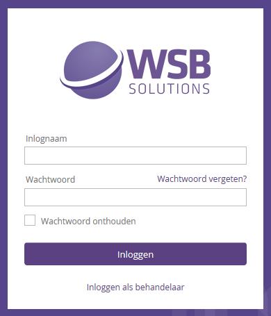 Klantportaal WSB Solutions login