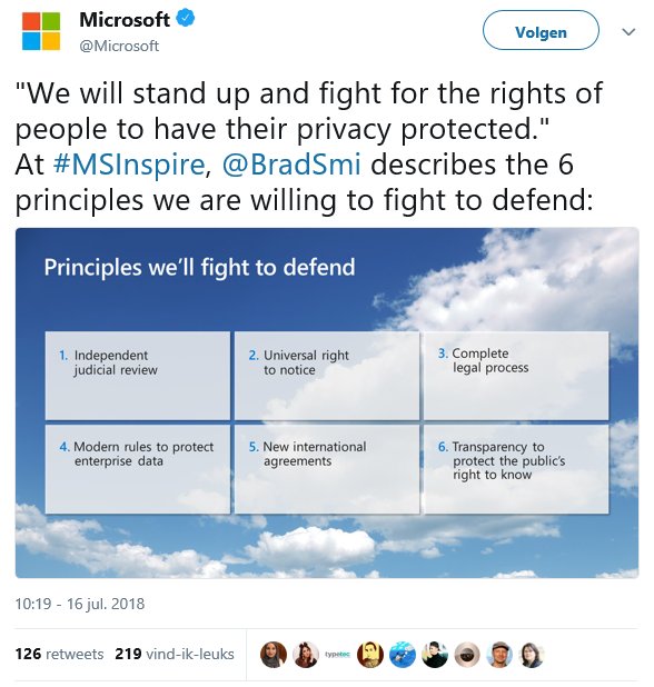 Cybersecurity - Microsoft 6 principles fight to defend