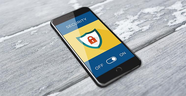 Beveiliging mobiele telefoon van de zaak