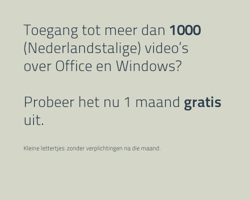 1 maand gratis video's Microsoft Office en Windows