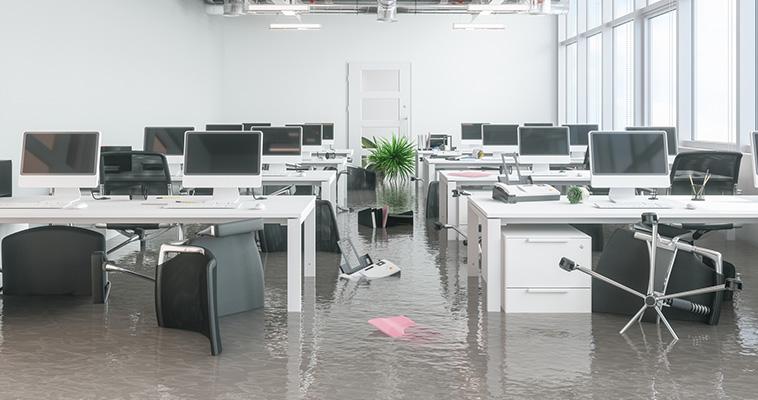 Kantoor na water lekkage
