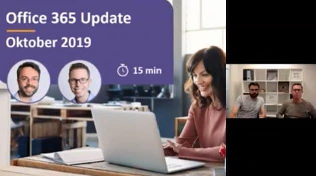Video Microsoft 365 update oktober 2019