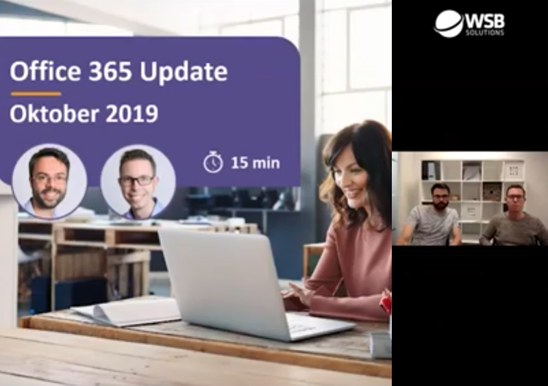 Video Microsoft 365 update oktober 2019