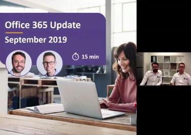 Video Microsoft 365 update september 2019