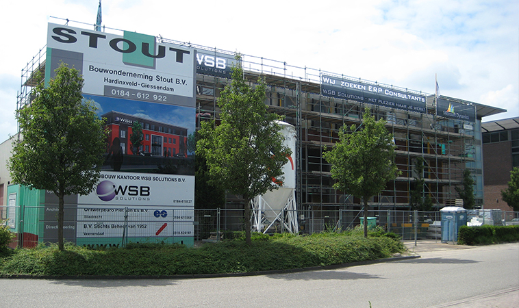 WSB Solutions pand in aanbouw