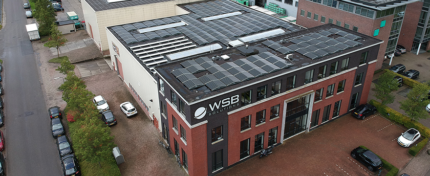 WSB Solutions pand vanuit lucht
