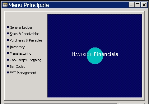 Windows Client Navision Financials