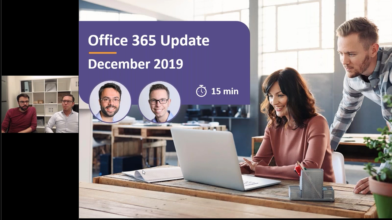 Microsoft 365 update - december 2019