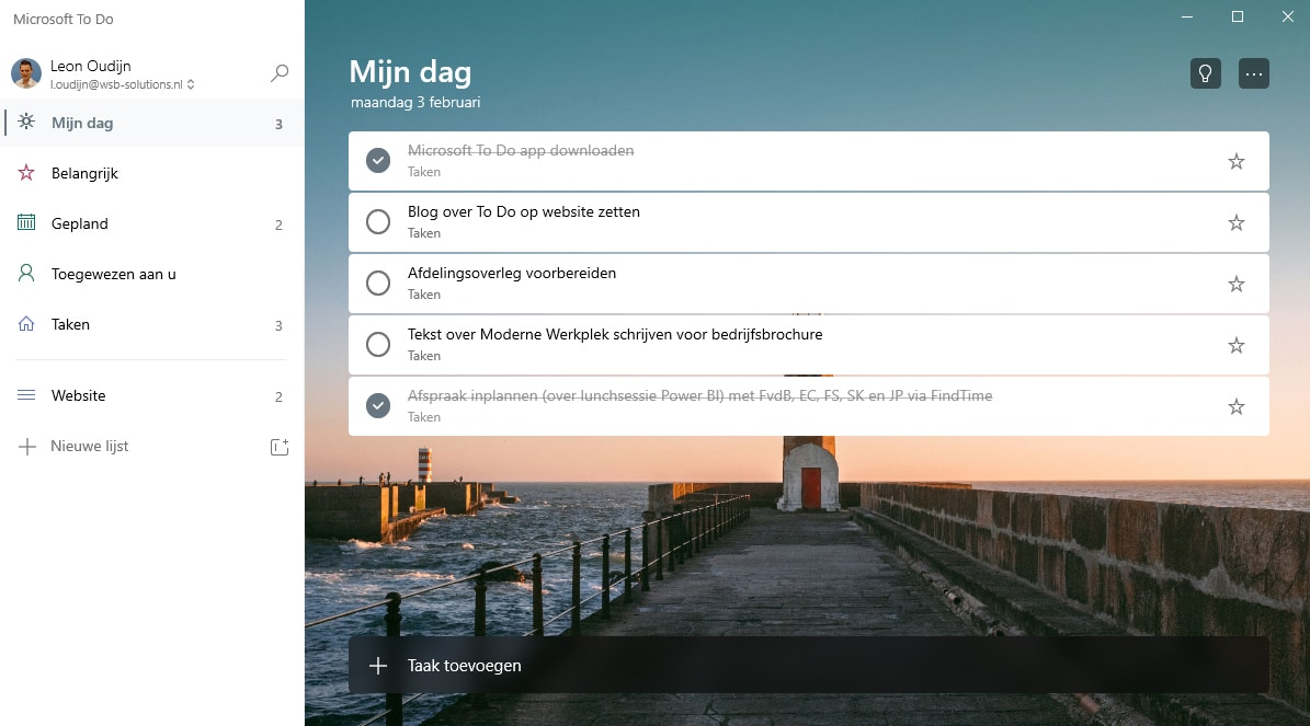 Microsoft To Do - Mijn Dag