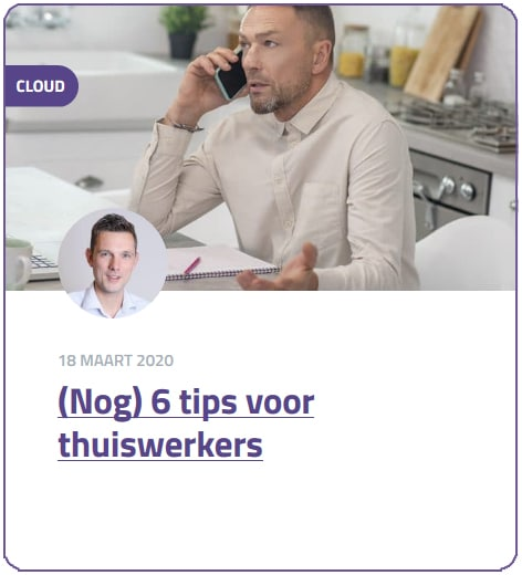 blog tips thuiswerkers
