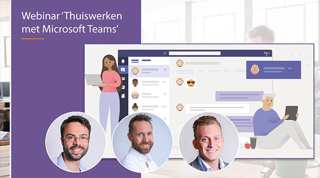 video webinar thuiswerken met microsoft teams