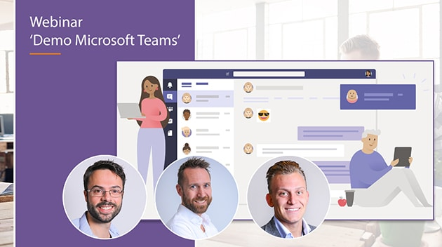 video webinar live demo thuiswerken met microsoft teams