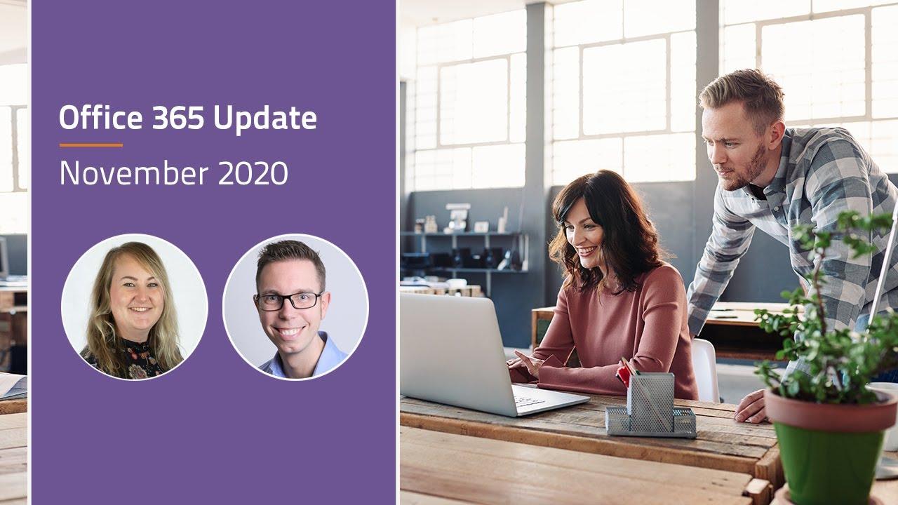 Video Microsoft 365 update - november 2020