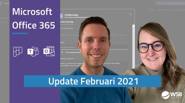 Video Microsoft Office 365 update - februari 2021