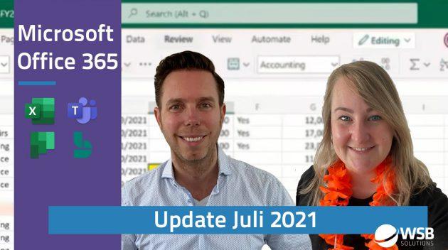 Video Microsoft 365 update juli 2021