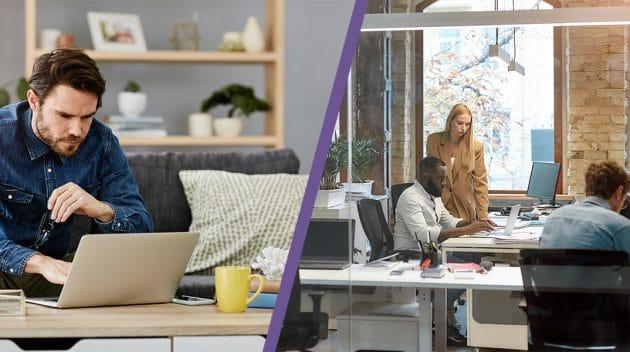 Hybride werken - combinatie thuiswerken en werken op kantoor