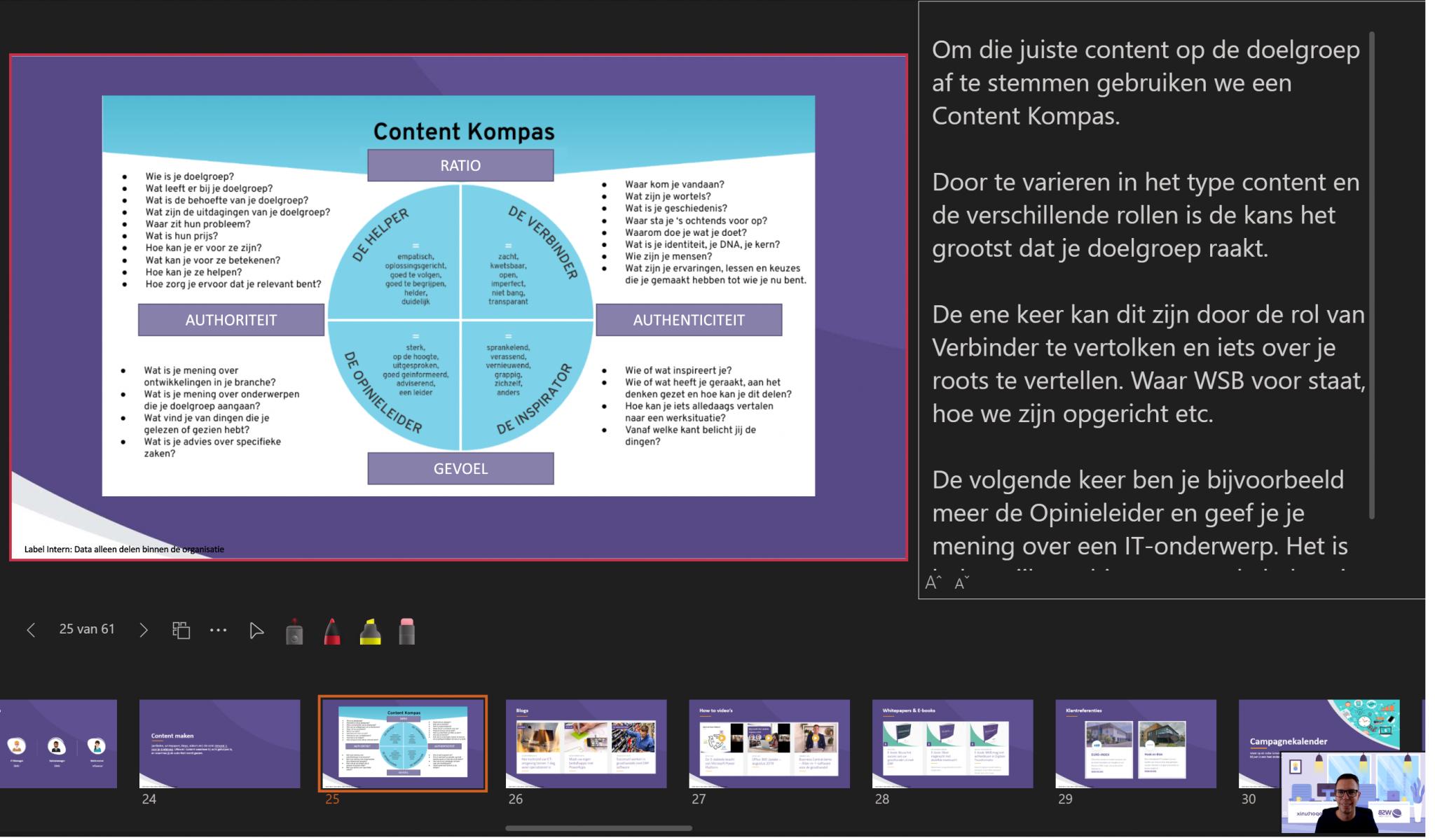 Webinar geven met Teams - PowerPoint Live