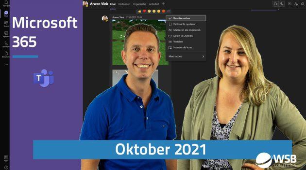 Video Microsoft 365 update oktober 2021